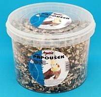 Krmivo pro malé a střední papoušky Apetit kbelík 3l