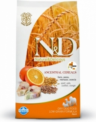 N&D Low Grain DOG Adult MAXI Codfish & Orange 12kg + DOP