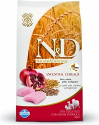 N&D Low Grain DOG Adult Chicken & Pomegranate 2,5kg + PA