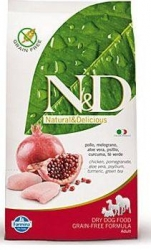 N&D Grain Free DOG Adult Chicken & Pomegranate 2,5kg + P