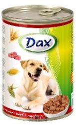 Konzerva pro psy Dax kousky hovězí 1240 g