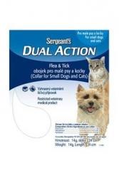 Sergeanťs Dual obojek antiparazitní malý pes, kočka 34cm - SLEVA
