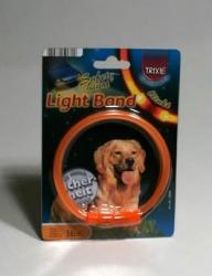 Obojek blikací Light Band Oranžový TRIXIE, různé velikosti Velik