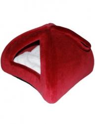 Pelech domek iglů 35x35cm Červená
