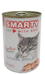 SMARTY chunks CAT BEEF 410g
