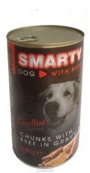 SMARTY chunks DOG BEEF 1240g