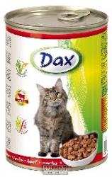 Konzerva pro kočky Dax kousky hovězí 415 g