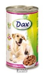Konzerva pro psy Dax kousky telecí 1240 g