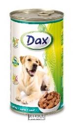 Konzerva pro psy Dax kousky zvěřina 1240 g