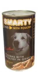 SMARTY chunks DOG POULTRY 1240g