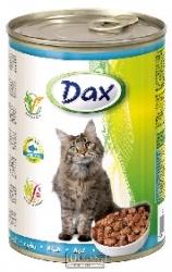 Konzerva pro kočky Dax kousky ryba 415 g