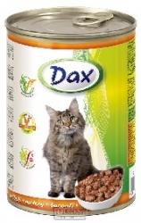 Konzerva pro kočky Dax kousky drůbeží 415 g