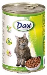 Konzerva pro kočky Dax kousky králík 415 g