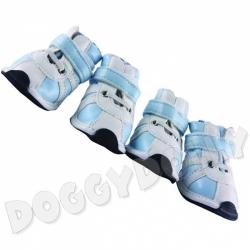 Boty pro psy Doggydolly modré S 4kusy - NOVINKA, DOSTUPNÉ I JINÉ