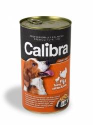 Calibra konzerva pro psy krůtí+kuřecí+těstoviny v želé 1240g - S