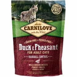 Carnilove Cat Duck & Pheasant Hairball Control 400