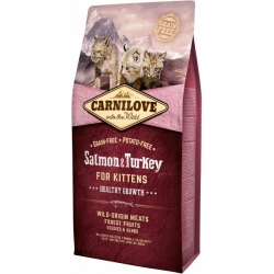 Carnilove Cat Salmon & Turkey Kitten 6kg