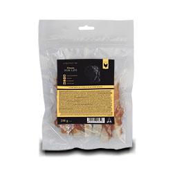 Fitmin FFL sušené maso plátky z ryby obalované kuřecím 200g - SL
