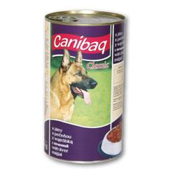 Konzerva pro psy CANIBAQ Classic játrová 1250g