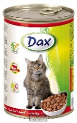 Konzerva pro kočky Dax kousky hovězí 830 g