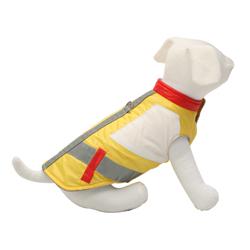 Vesta pro psy žlutá reflex XL 38-42cm - SLEVA 50%