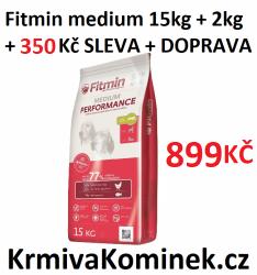 Fitmin dog medium performance 15kg + 2kg + SLEVA 200 Kč + DOPRAV
