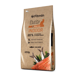 Fitmin cat Purity Indoor 10kg + 1,5kg ZDARMA!
