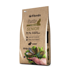 Fitmin cat Purity Senior 10 kg + 1,5kg ZDARMA
