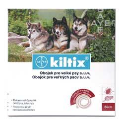 KILTIX antiparazitní obojek pro velké psy 70 cm - SLEVA 50 KČ!