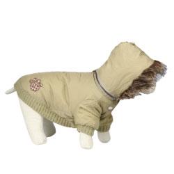 Obleček pro psy Piumino BÉŽOVÝ 25 cm - SLEVA 50%