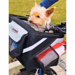 Přepravka pro psy na řídítka jízdního kola 38x25x25cm