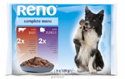 Reno kapsička pro psy 4x 100g - TRVALE NÍZKÁ CENA!