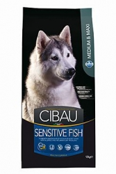 CIBAU Dog Adult Sensitive Fish&Rice Medium Maxi 2,5kg