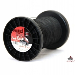 Splétaná šňůra Round Braid Power Black 0,80mm, 100kg, 1000m