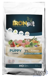IRONpet TURKEY Puppy Large 12kg