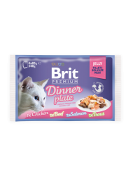 Brit Premium Cat Pouch Dinner Plate Jelly (4x85g)