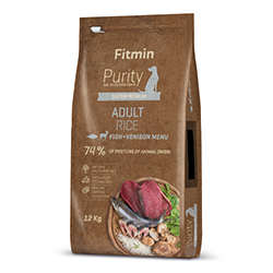 Fitmin dog Purity Rice Adult Fish&Venison 2kg + PAMLSKY ZDARMA!