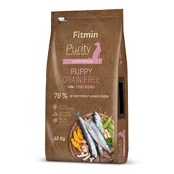 Fitmin dog Purity Grain Free Puppy Fish 2kg + PAMLSKY ZDARMA!