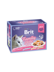 Brit Premium Cat Pouch Family Plate Jelly (12x100g)