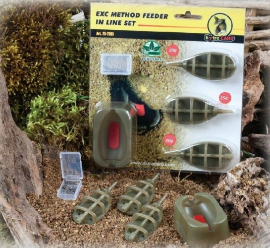 Extra Carp Method Feeder Set 20,25,30g + formička