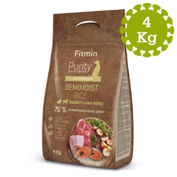 Fitmin dog Purity Semimoist Rabit+Lamb 4kg - MĚKČENÉ!